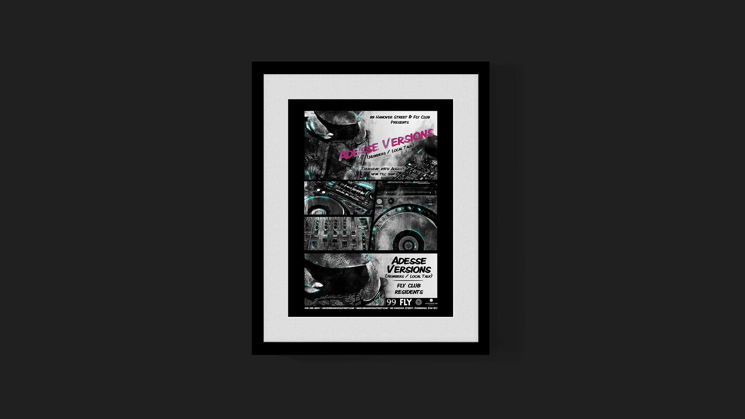 Adesse Versions poster created 99 Hanover Street Edinburgh Fringe Festival '16
