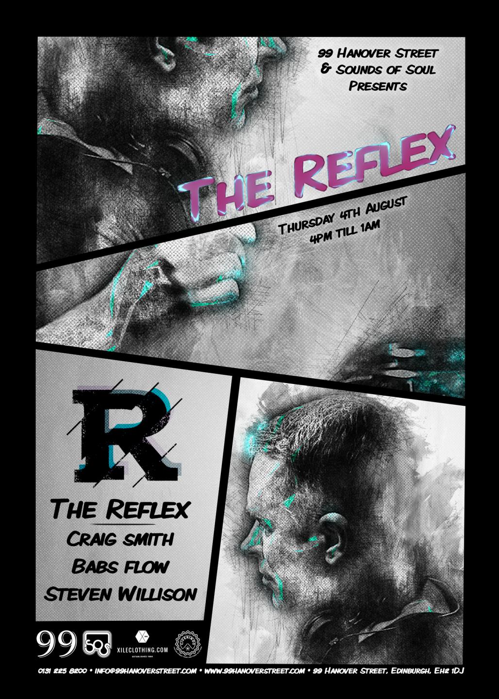 The Reflex poster created 99 Hanover Street, Edinburgh Fringe Festival '16