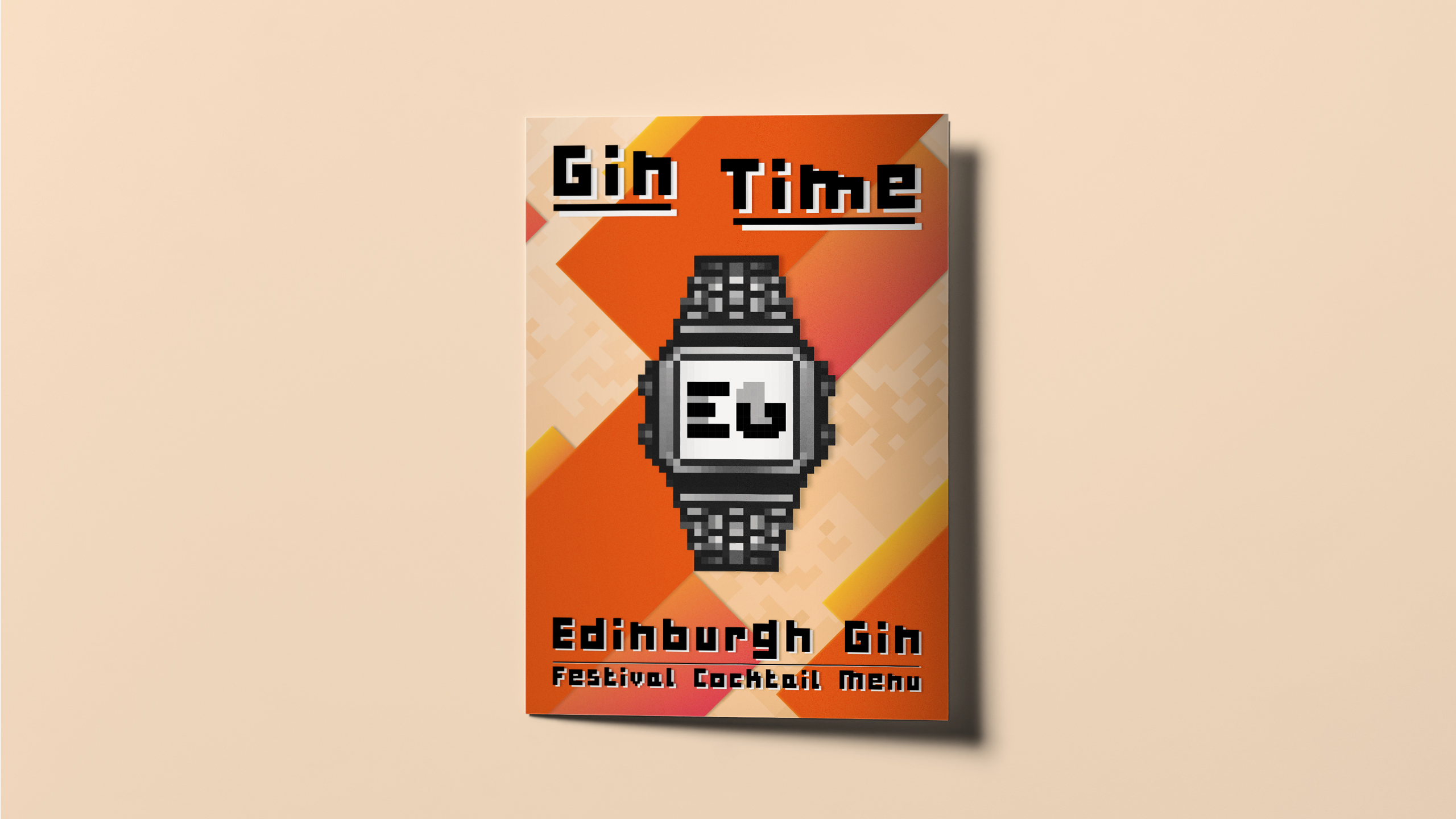 Edinburgh Gin Festival Cocktail menu designed by Dephined