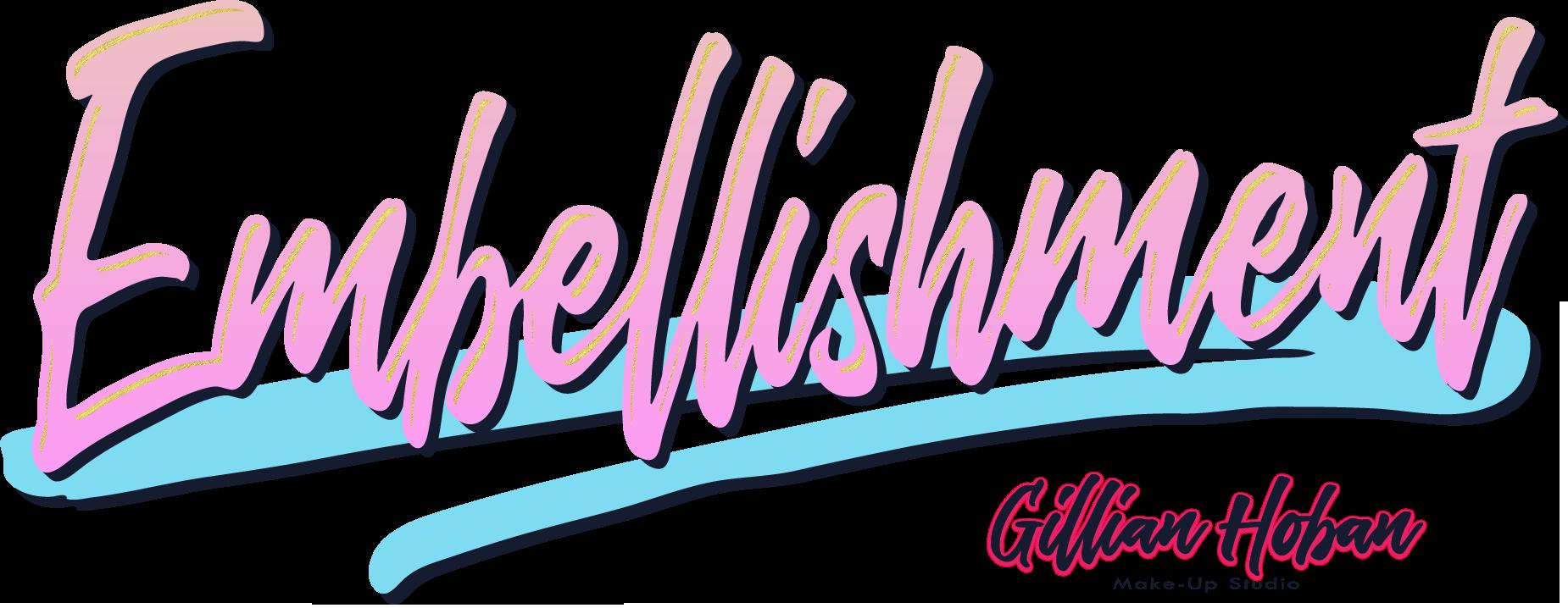 Embellishment logo designed by Dephined for Gillian Hoban Make-Up Studio